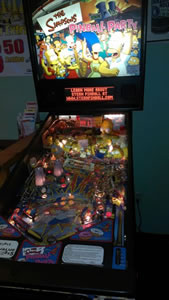 Fast action on a pinball machine.